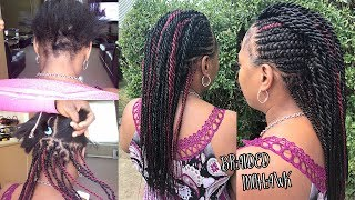HOW TO DO A BRAIDED MOHAWK WITH SENEGALESE TWISTS - TUTORIAL