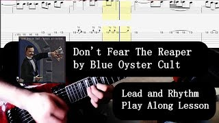 Play Along To Don't Fear The Reaper By Blue Oyster Cult   Lead And Rhythm Guitar Lesson