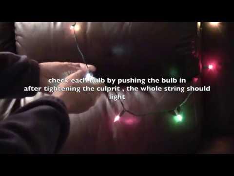 Christmas lights quick repair