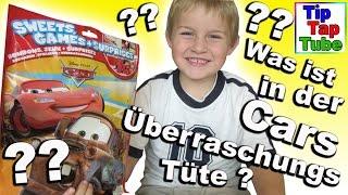 Cars Überraschungs Tüte von Toys r us mit Spielzeug und Süßigkeiten auspacken spielen Kinderkanal