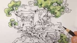 How To Color With Faber Castell Albrecht Durer Pencils Waterbrush