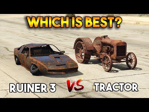 GTA 5 ONLINE : RUINER 3 VS TRACTOR (WHICH IS BEST?)
