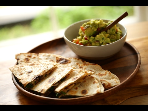 Video Beth's Veggie Quesadilla and Chunky Guacamole | ENTERTAINING WITH BETH
