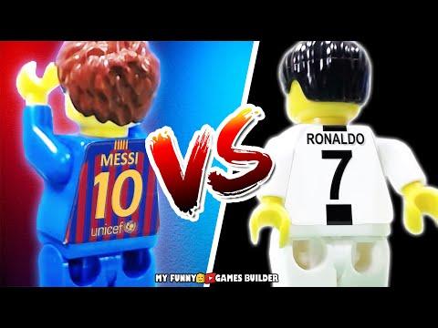 Messi vs Ronaldo • challenge 18/19: Cristiano Ronaldo against Lionel Messi in LEGO Football Film