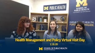 Health Management and Policy Virtual Visit Day 2.10.20 | Michigan Public Health
