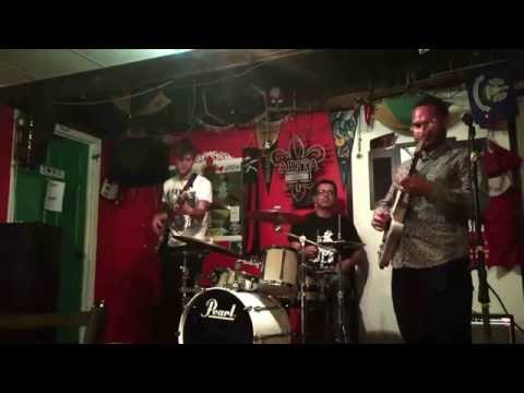 Jon Letts-Bass Travis Swanson-Guitar Jim Cohen-Drums  10-5-2016 Lagniappe Marquette, MI