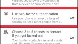 Facebook    How To Enable Use Two-factor Authentication in Facebook