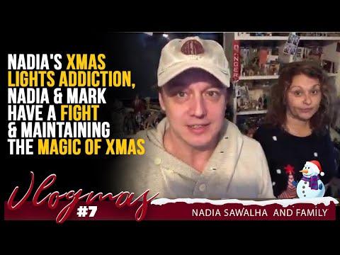 VLOGMAS 7 Nadia's XMAS LIGHTS ADDICTION, Nadia & Mark Have A FIGHT & Maintaining the MAGIC of XMAS