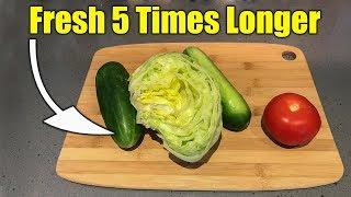 Keep Produce Fresh in Refrigerator