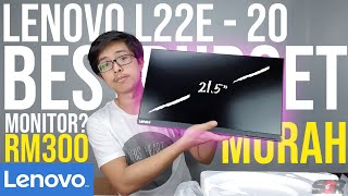 """Lenovo L22e-20 Monitor - 21.5"""" UNBOXING + MY SETUP  QUICK REVIEW MALAYSIA BEST BUDGET MONITOR LAZADA"""