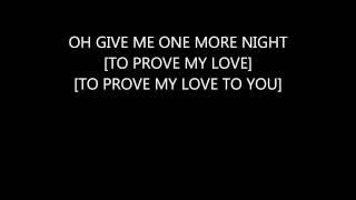 Jordan Knight--One More Night Lyrics
