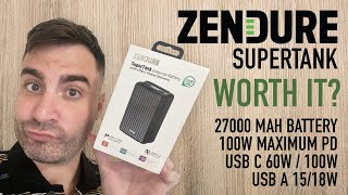 Zendure SuperTank - Is it any good? Unboxing and honest review of this 27000 MAH power bank