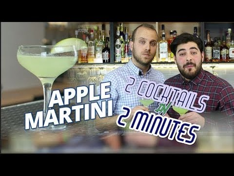 APPLE MARTINI Cocktail Recipe – 2 Cocktails in 2 Minutes