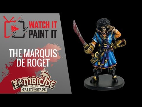 Zombicide Green Horde - Painting The Marquis de Roget
