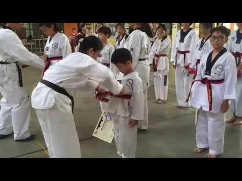 Ethan receiving his Taekwondo Black Belt 1st Poom Certificate and ...