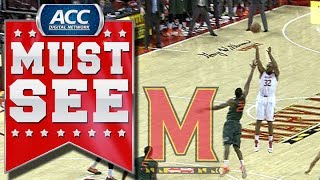 Maryland's Dez Wells Hits Game-Winning Shot vs Miami | ACC Must See Moment