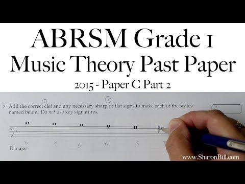 ABRSM Music Theory Grade 1 Past Paper 2015 C Part 2 with ...
