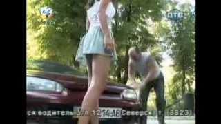 O femeie Sexy are Roata Desumflata / Farsa Haioasa cu Camera ascunsa