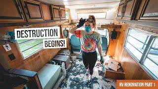 Vintage RV Renovation BEGINS!… And We Have No Idea What We're Doing 😳