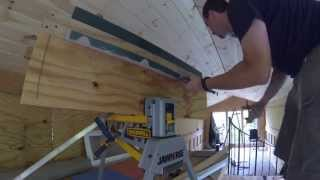 Bending roofing metal flashing with a homemade brake - Windows in the clerestory