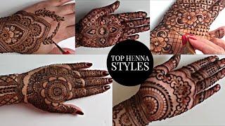 Top 5 Stylish Back Hand Mehendi Designs | Henna Art By Aroosa