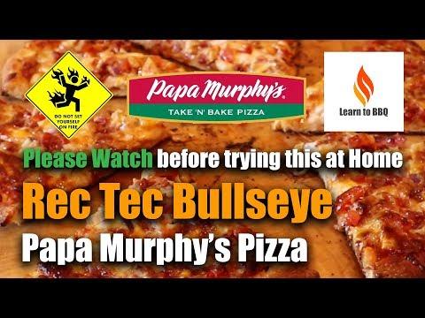 Papa Murphys Pizza On The Rec Tec Bullseye Grill Learn To Bbq