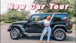 NEW CAR TOUR + Whats In My Car! | 2020 Jeep Wrangler Unlimited Sahara