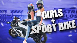 Girls Ride Sport Bike Together!   Behind The Scenes