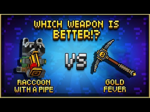 Raccoon with a Pipe VS Gold Fever - Pixel Gun 3D