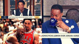 Scottie Pippen ENDS The MJ-Lebron Debate!! The History Of His BEEF With Isiah Thomas! - Video Youtube