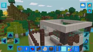 RealmCraft (SKINS export to minecraft) - Building video! Automatic stairs + house