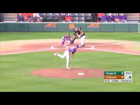 Clemson Baseball || Wright State Game Highlights - 2/18/17