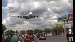 RWY 23 landings Toronto Pearson Airport (1) - low approaches over Airport Rd