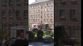 Пожар в Сыктывкаре - горит общежитие 26 августа 2018 года