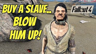 Buy a Slave, Blow Him Up! - | Buy A Slave And Slave Collar Explosion MOD Fallout 4 |