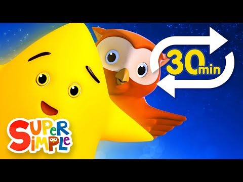 Twinkle Twinkle Little Star (Extended Mix - 30 Mins!) | Nursery Rhyme Lullaby  | Super Simple Songs