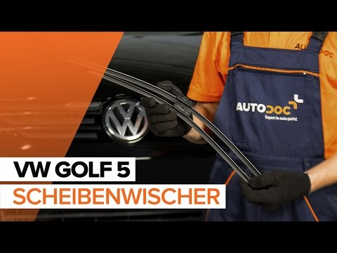 Wie VW GOLF 5 Scheibenwischer vorne wechseln TUTORIAL   AUTODOC