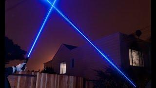Обзор Синего Лазера 1200мв 450 нм