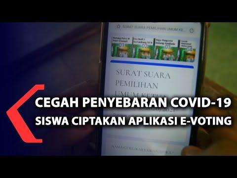 cegah penyebaran covid- siswa ciptakan aplikasi e-voting