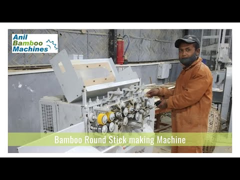 Round Bamboo Stick Making Machine