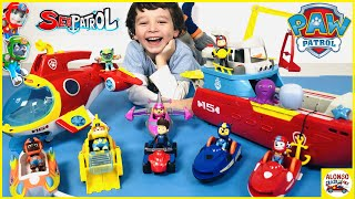Rescue mission with Paw Patrol Sea Patrol and Sea Patroller Sub Patroller Transforming Vehicles Toys