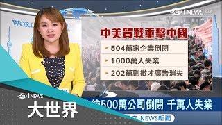 貿易戰崩壞!中國五百萬企業倒閉 習近平不得不大規模減稅救經濟|主播 王志郁|【大世界新聞】20181224|三立iNEWS