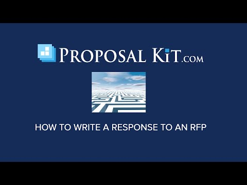 How to Write an RFP Response (Government, Private Sector, Grant, etc.)