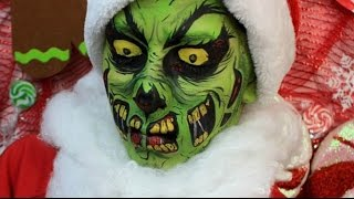 Twisted Christmas: The Grinch Zombie Makeup Tutorial