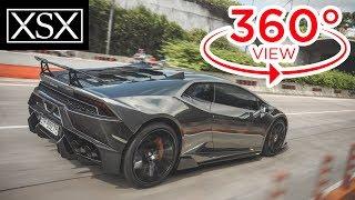 [360° Video 4K] Exploring Lamborghini Huracan with Virtual Reality - First in Vietnam | XSX