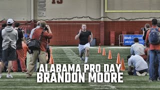 Watch Brandon Moore at Alabama Pro Day