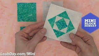 How To Sew A Square In A Square Quilt - Mini Block Monday #9