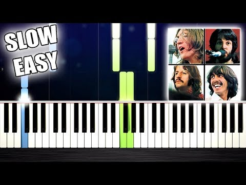The Beatles - Let It Be - SLOW EASY Piano Tutorial by PlutaX