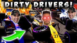F1 2017 - The Worst Dirty Drivers Ever Team Up Against Me