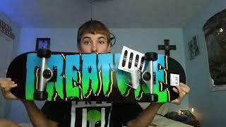 BRAND NEW 150$ SKATEBOARD REVIEW!!! CREATURE BOARD